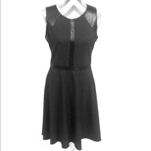 Laundry by Design Gray Dress w/Faux Leather Size 8